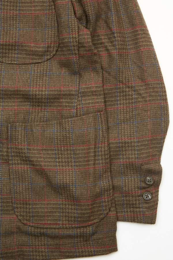 Engineered Garments NB Jacket - Olive/Brown Poly Wool Glen Plaid