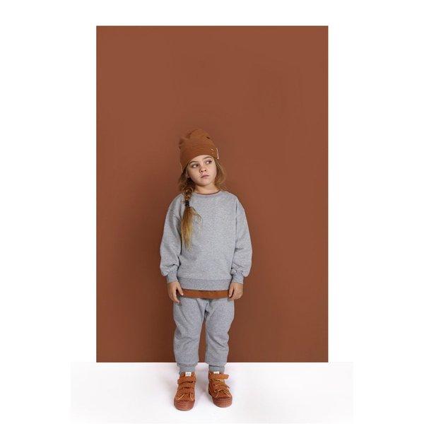 Kids Gray label track pants - Grey melange