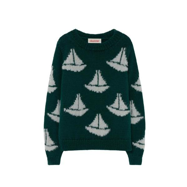 kids the animals observatory arty bull sweater - green