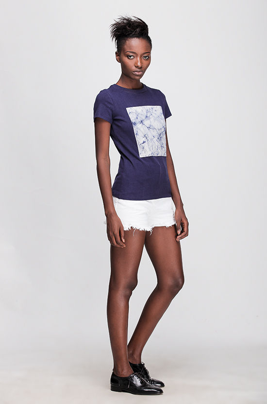 Osei-Duro  Baby T in Navy Crackle