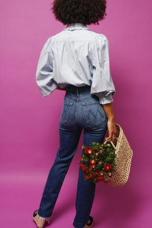 Mother Denim THE TRIPPER ANKLE FRAY TOP - NATURE TOUCH BASE