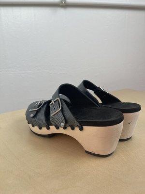 pre-loved Mohop Clog Sandals - Pewter