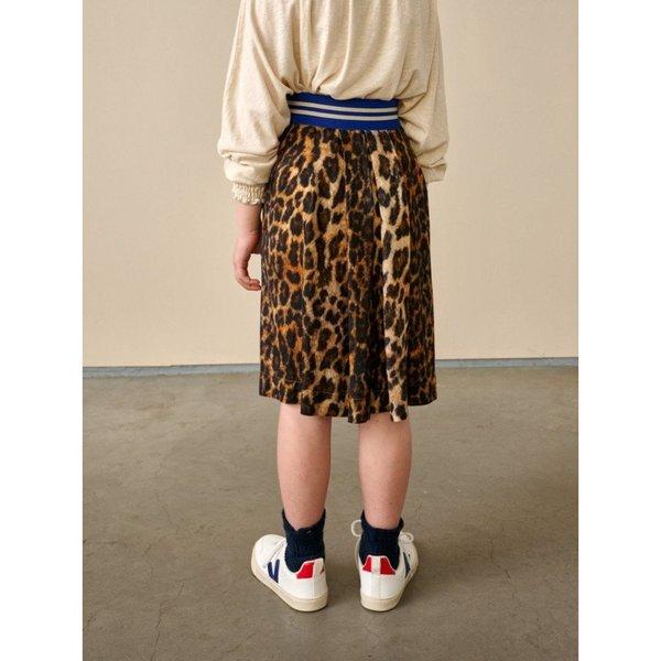 Kids bellerose amici skirt - leopard