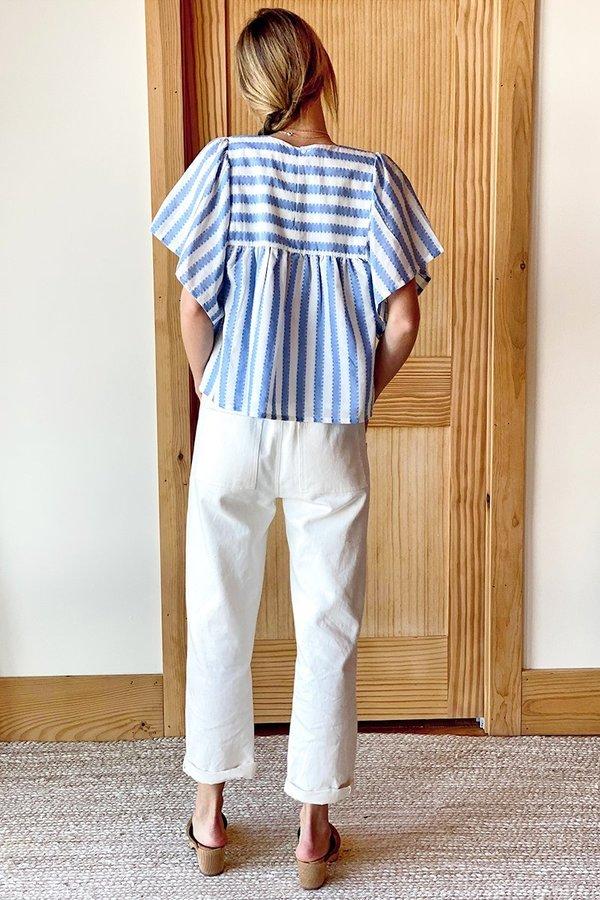 Emerson Fry Basalie Top - Scallop Blue Stripe