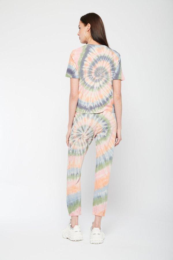 Raquel Allegra Tracker Pant - Pastel Spiral Tie Dye