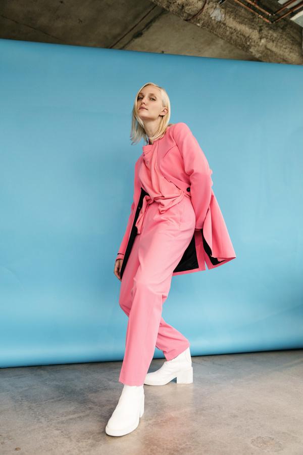 MM6 Maison Margiela Raw Edge Trouser - Neon Pink