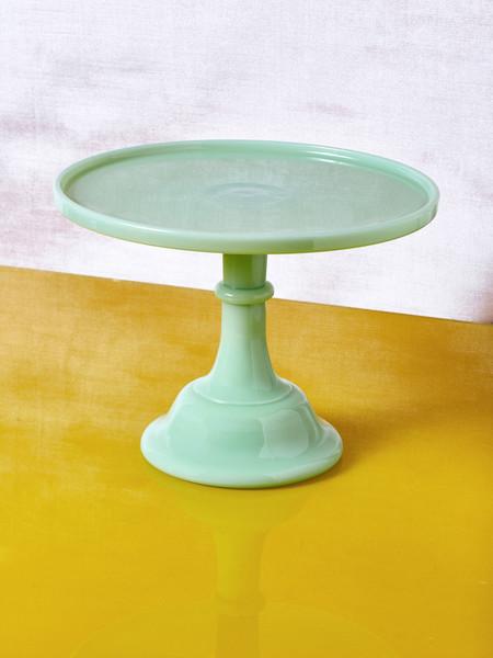 Mosser Glass Milk Glass Cake Stand - Jadeite
