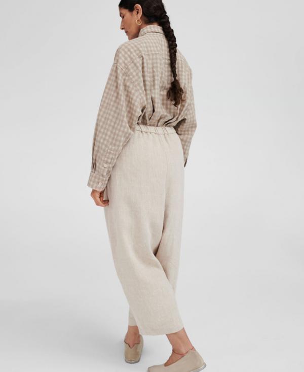 Mónica Cordera Linen Maxi Pants - Natural