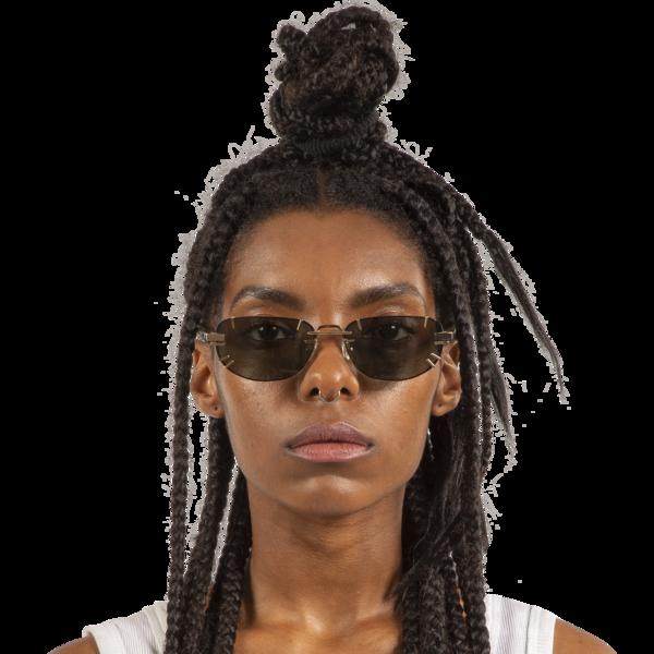 Y/project Linda Farrow Edition Sunglasses - Horn/Light Gold