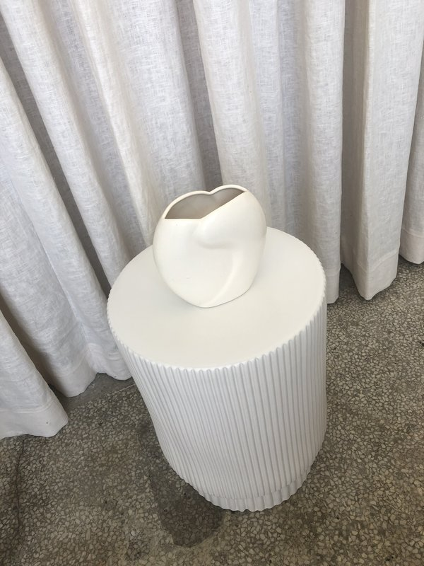 Vintage Pottery Vase - Matte White