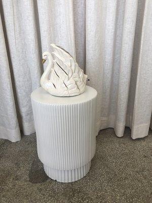Vintage 1950'S SWAN TV LAMP - white