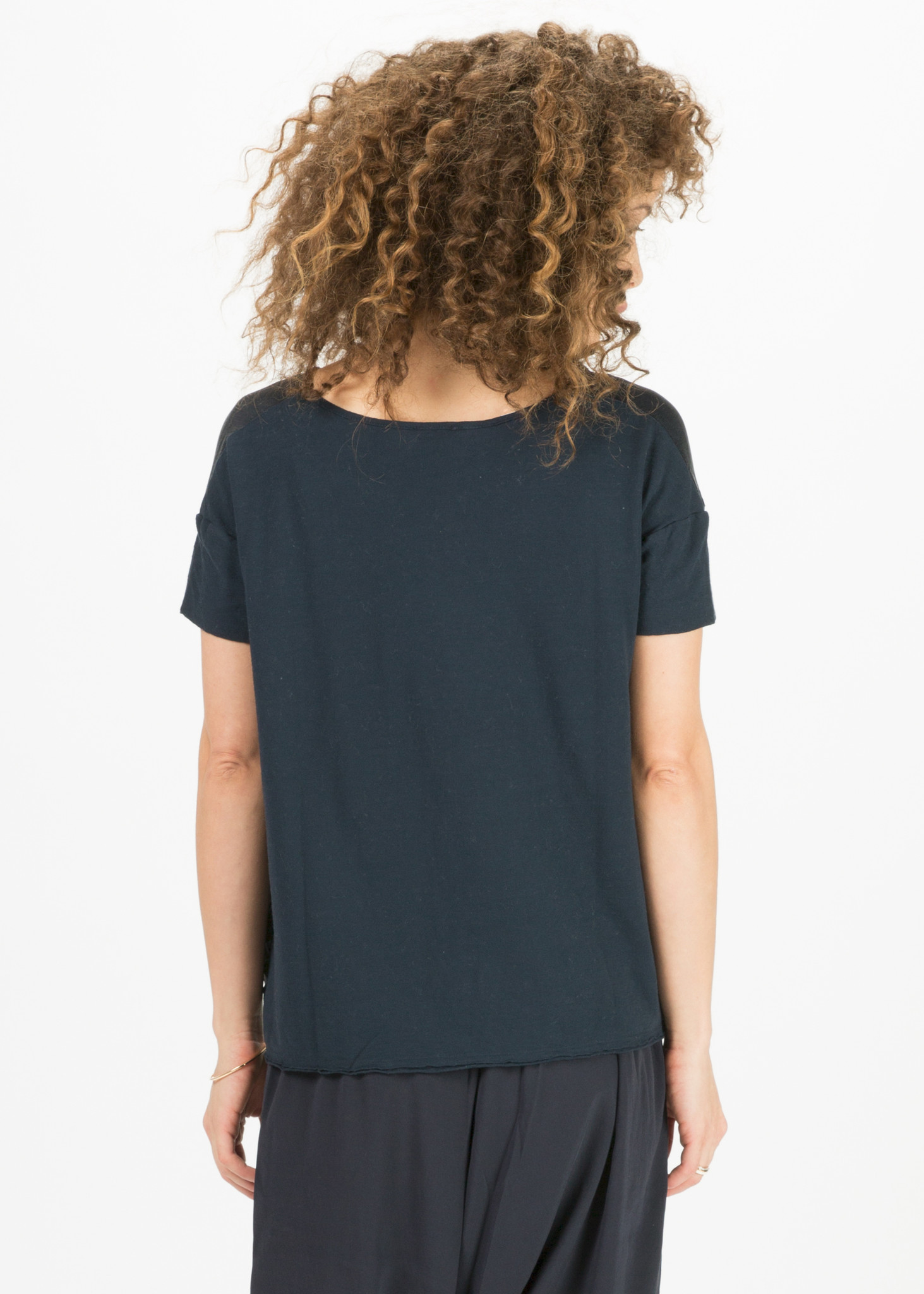 Kristensen Du Nord Silk Front T Shirt Garmentory