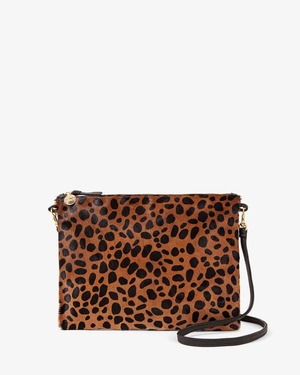Clare V. Single Sac Bretelle with Tabs  Hair Bag - Leopard