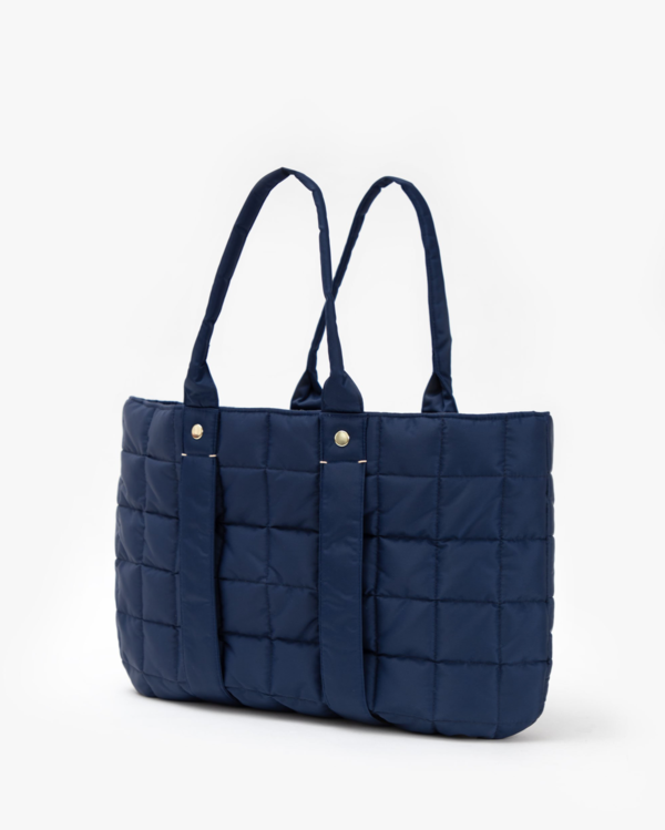 Clare V. Quilted Puffer La Tropezienne - Navy