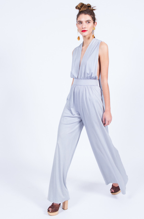2a55187cd358 ICE BLUE 70S JUMPSUIT (XS - SMALL). sold out. Yo Vintage!