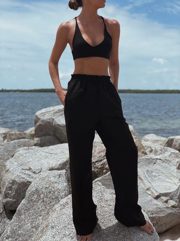 Parentezi Linen Pants - Black
