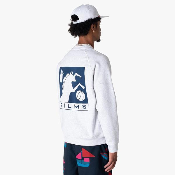 by Parra Basket Horse Crewneck sweater - gray