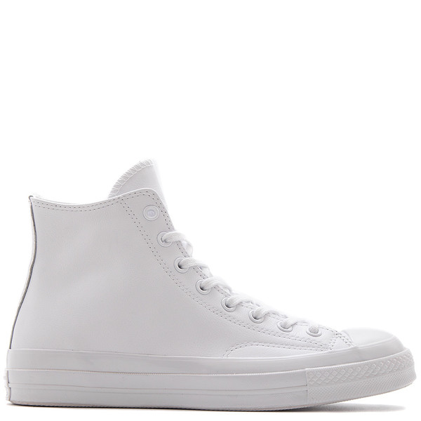 d103c21533fee7 CONVERSE CHUCK TAYLOR ALL STAR 70 MONO LEATHER HI   WHITE. sold out