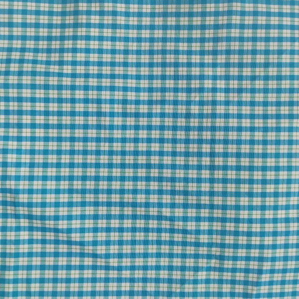 SIZ GINGHAM CANDY TOP - blue
