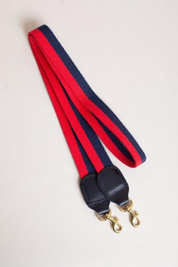 Clare V. Crossbody Strap - Navy/Red
