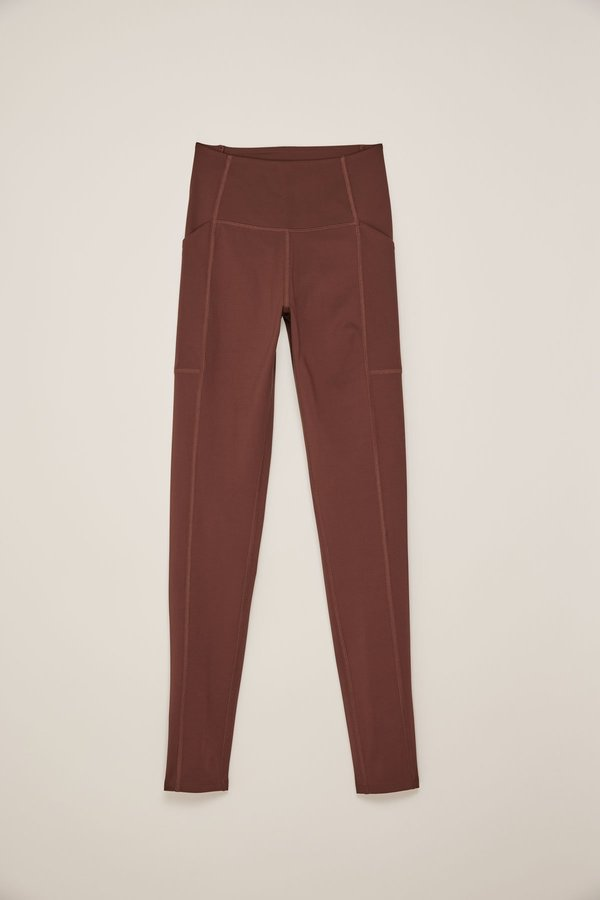 Girlfriend Collective High Rise Pocket Legging - Brown