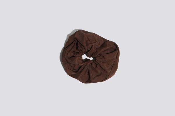 Coming of Age Nylon Coco Oversized Scrunchie - Brown