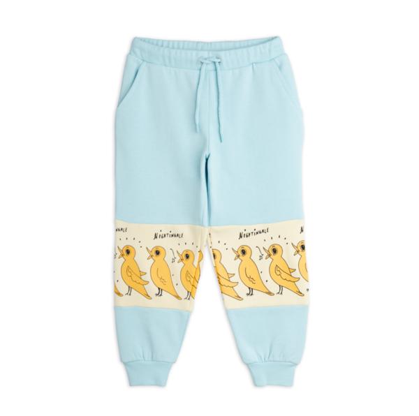 kids Mini Rodini Nightingale Sweatpants - Turquoise