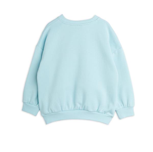 kids Mini Rodini Nightingale Sweatshirt - Turquoise