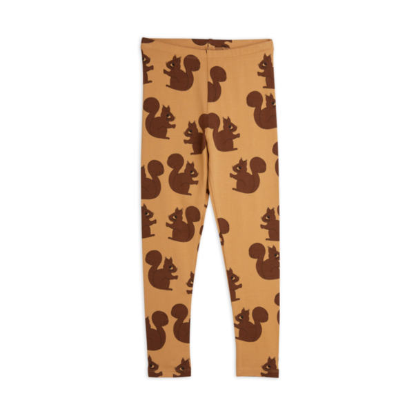 kids Mini Rodini Squirrel Leggings - Brown