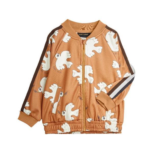 kids mini rodini dove aop jacket - brown