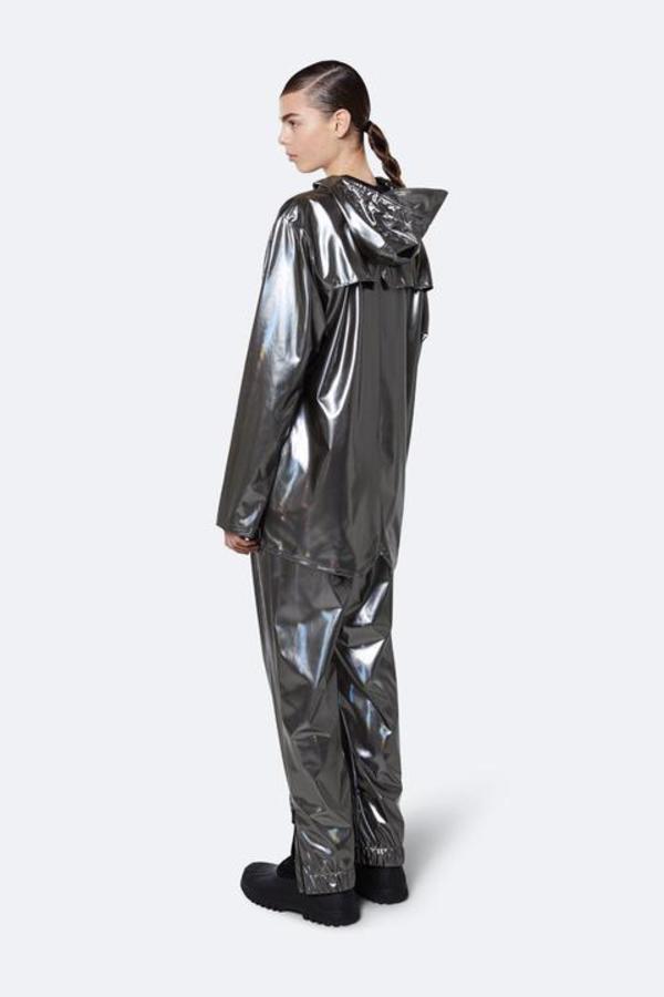 Unisex Rains Holographic Jacket - Steel
