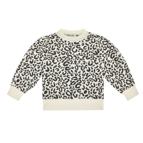 Kids the new society rose sweater - leopard