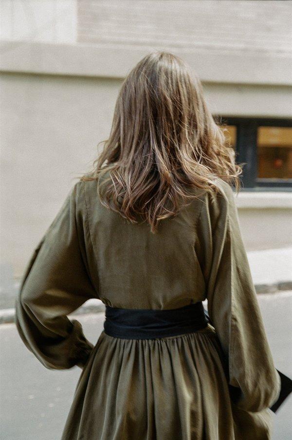 Kamperett Cassatt Dress - Olive