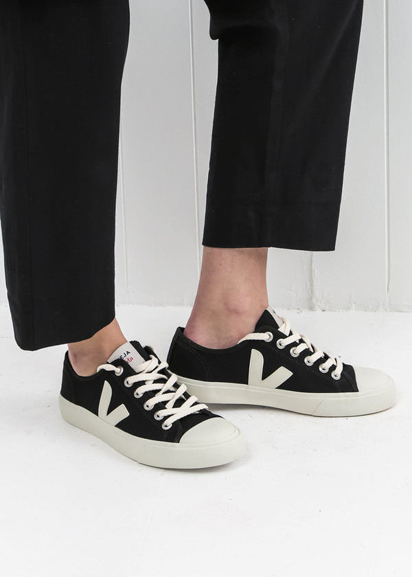 Pierre SneakerGarmentory Veja Canvas Wata Black wkP0O8n