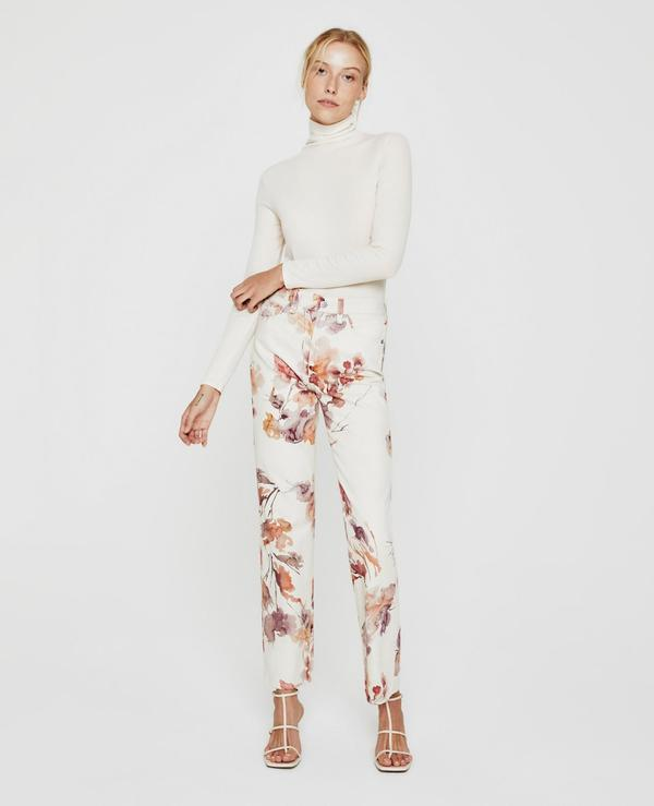 AG Jeans Alexxis Denim - Wine Floral Neutral