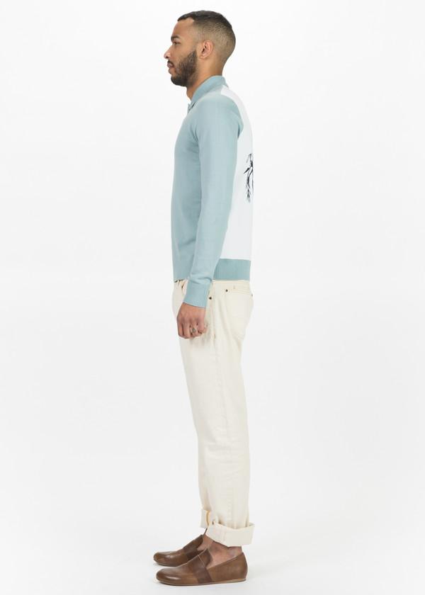 OAMC Palm Long Sleeve Polo - Mist Green