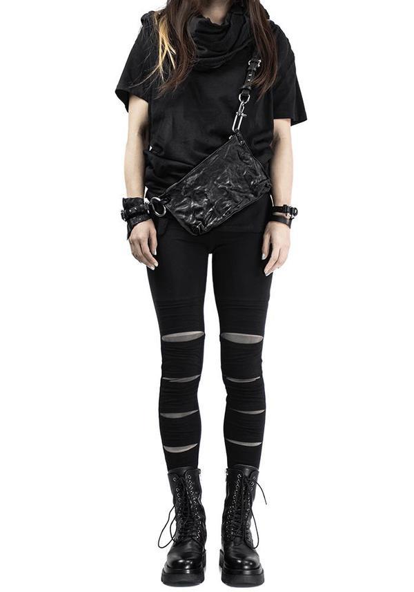 Unisex TEO+NG Daizo Leather Bag - Black