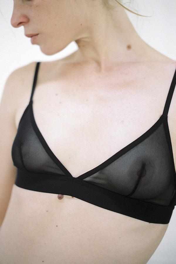 ac9029c67c The Nude Label Triangle Bra - sheer black