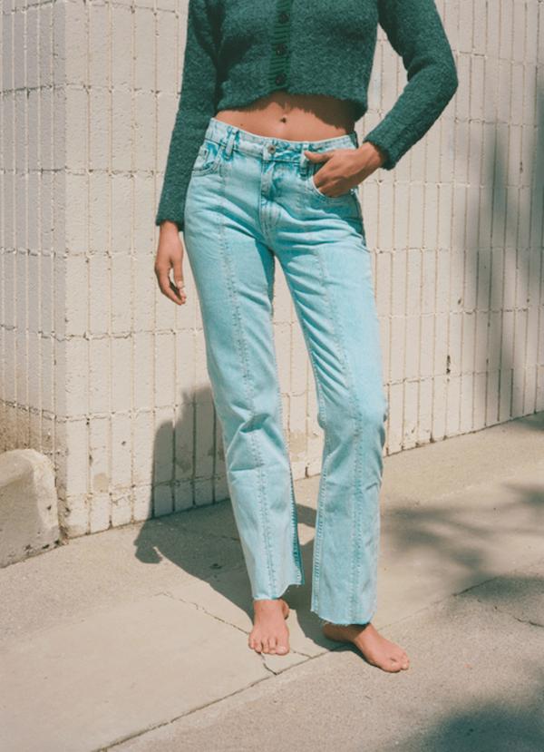 Gimaguas Dallas Acid Wash Jeans - BLUE