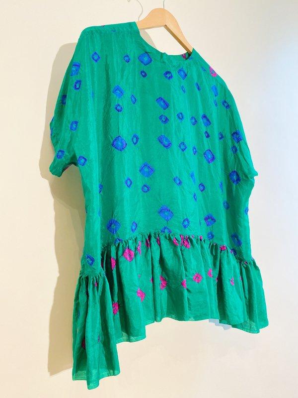 Injiri Shekhawati 46 Silk Top - Tie Dye