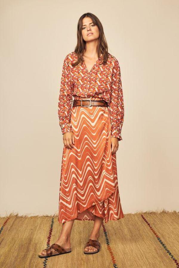 Diega Paris Jono Patterned Skirt - MULTI
