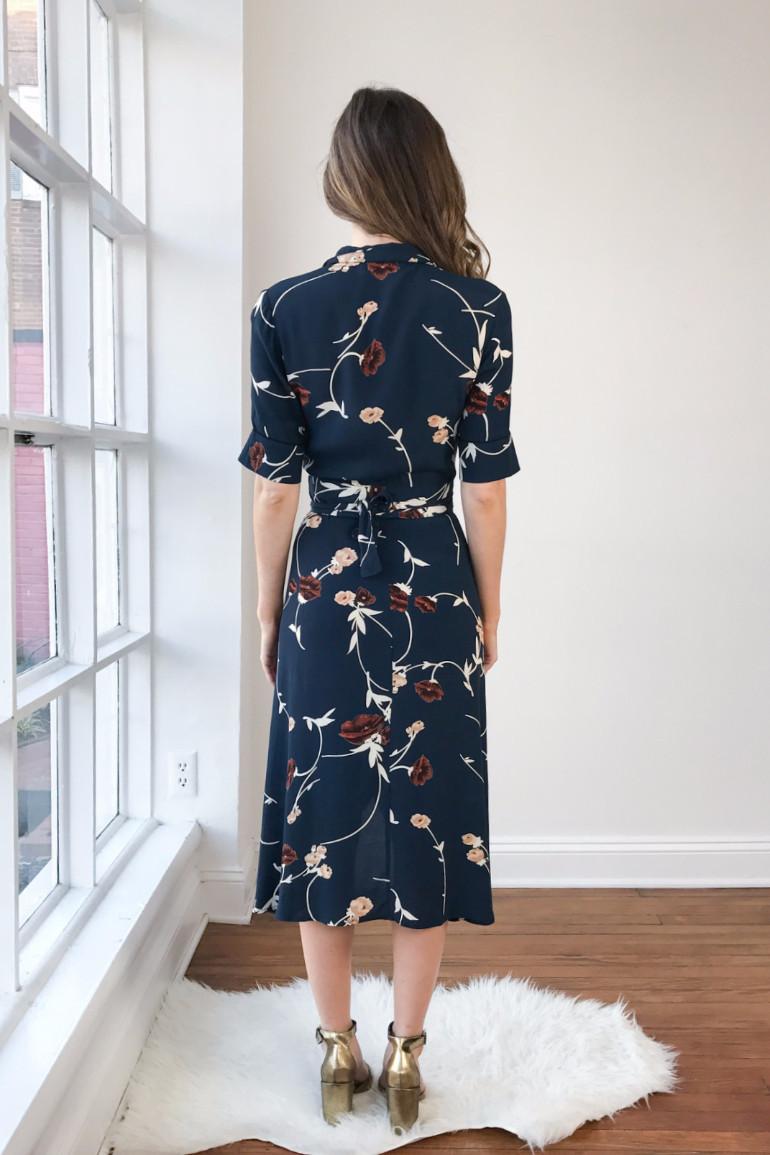 Ganni Dalton Crepe Dress Garmentory