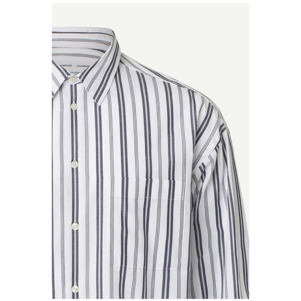 Samsoe Samsoe Luan J Shirt - Sky Captain Stripe