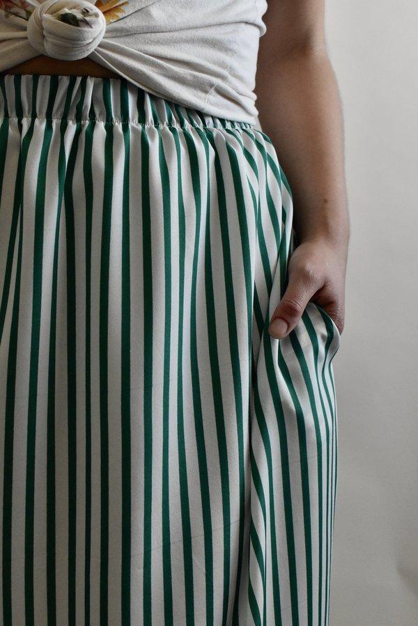 Eva Midi Skirt in Peppermint Stripe