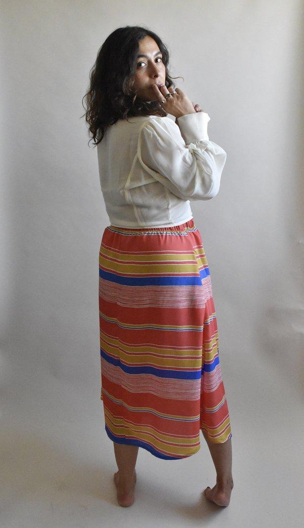 Eva Midi Skirt in Sunset Stripe