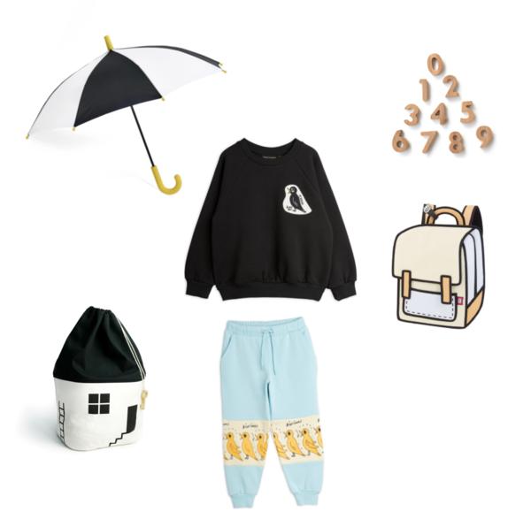 kids Mini Rodini Blackbird Sweatshirt - Black