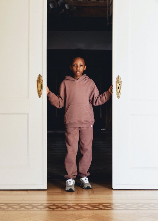 Kids Petits Vilains Francis Relaxed Sweatpant - Mulberry
