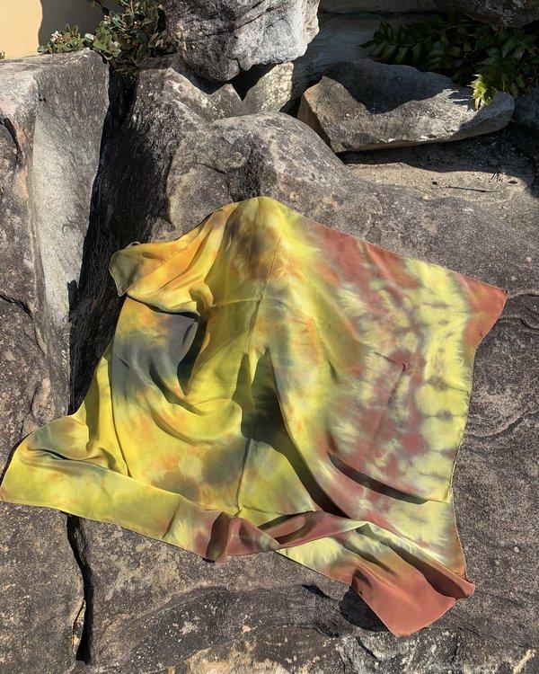 FIELD TIE DYE - Silk scarf SEA MOSS