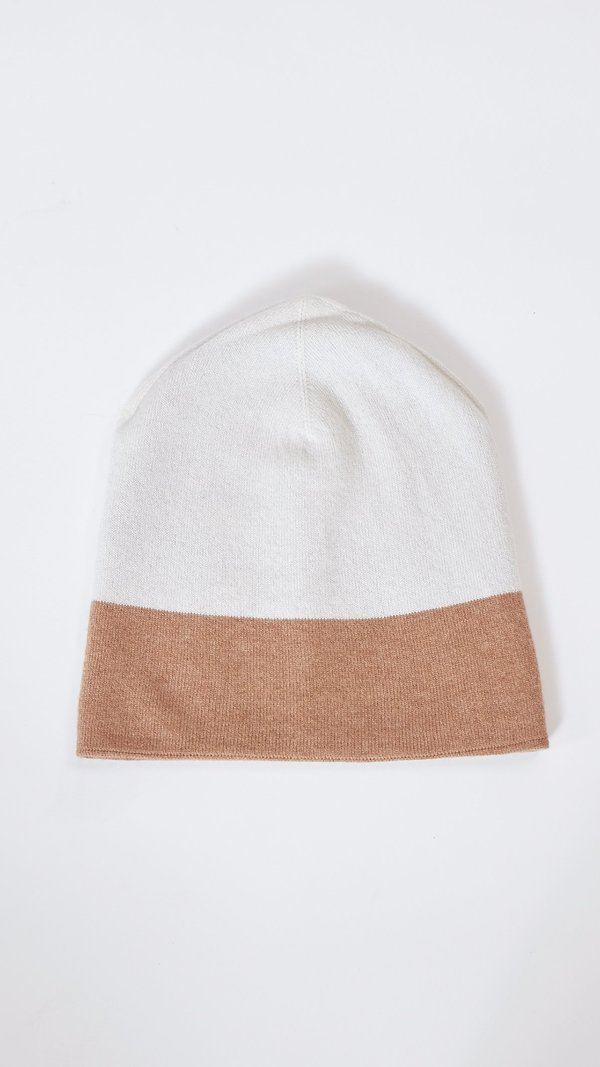 Sofie D'Hoore Mo Cashmere Hat in Black and Tan