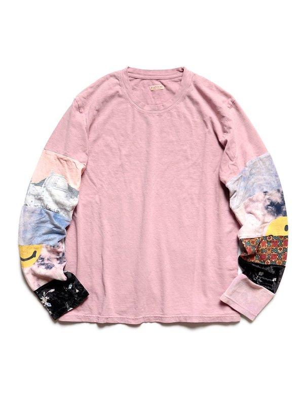 Kapital 18.5 Jersey HIPPIE Long Sleeve T - Pink